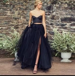 Maxi Black Tulle Skirt